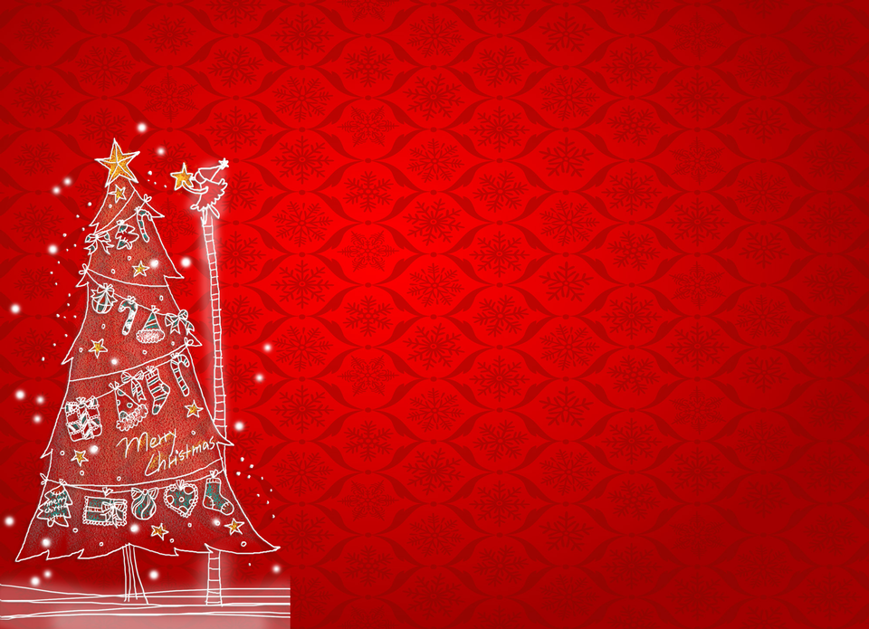 Christmas card with blurred background