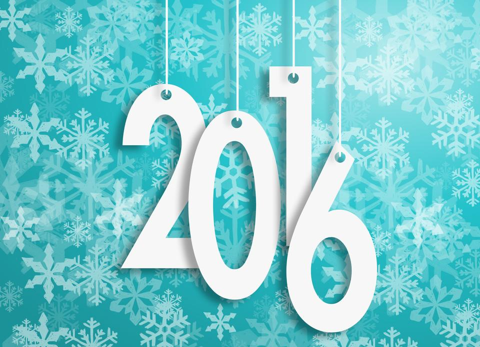 新年快乐2016年design.-白色字母