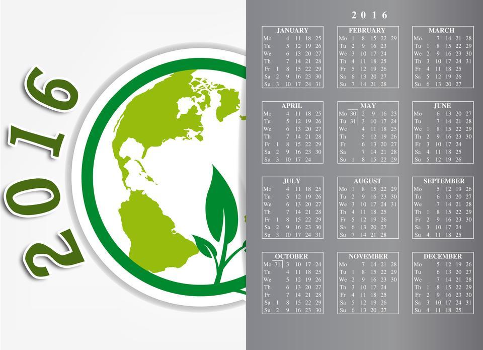 Calendar 2016 / 2016 calendar design eco