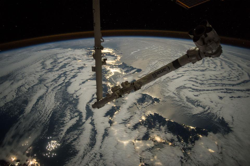 空間站上的機械臂