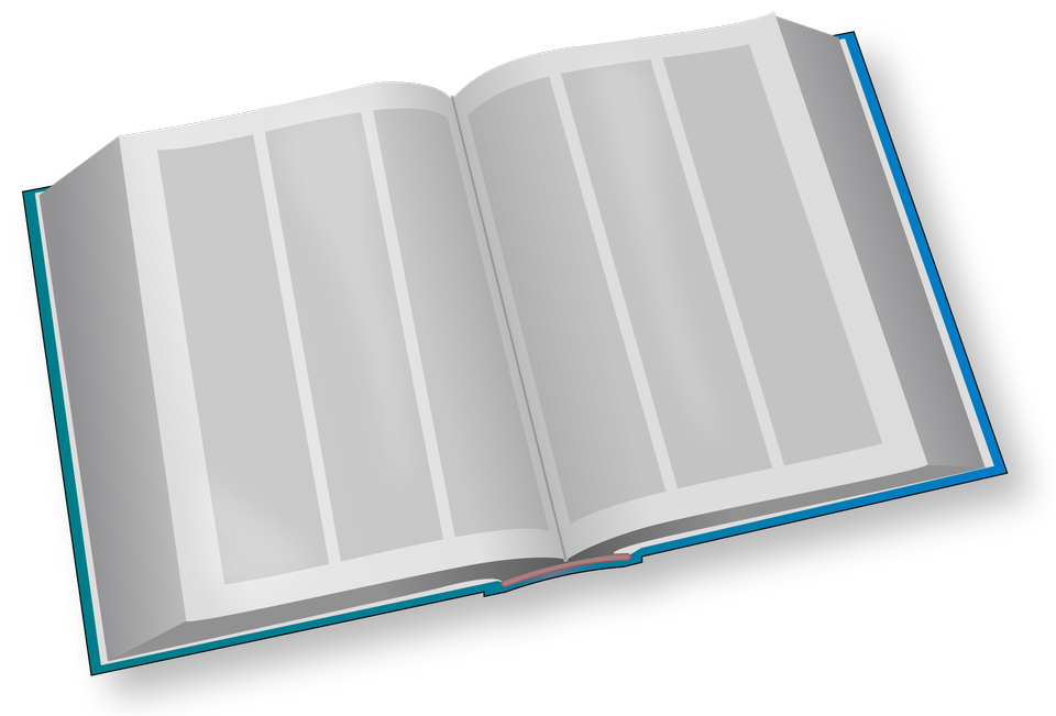 Blank white vector opened realistic book