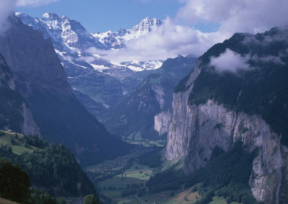 Alps mountains landscape