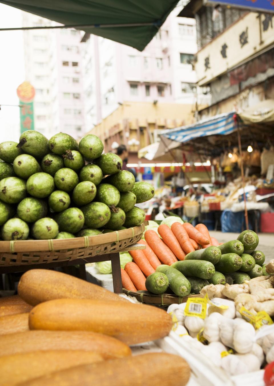 Shoppers in Hong Kong, China