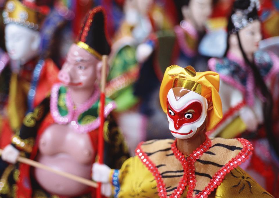 Modelo de personaje clásica china es recuerdos para turistas