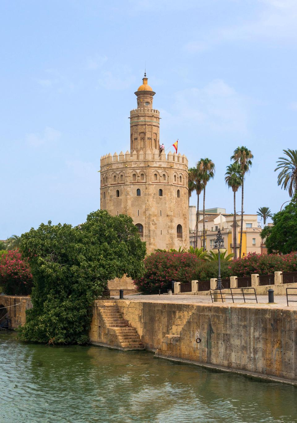 tower of gold on Guadalquivir River, Seville, Andalucia, Spain