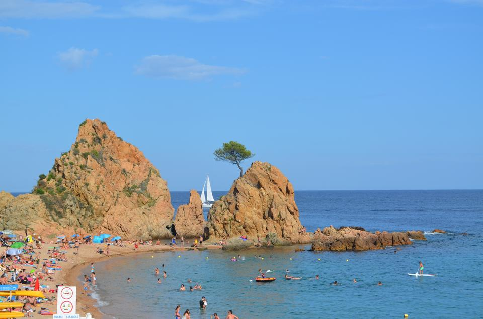 the beach of Tossa de mar