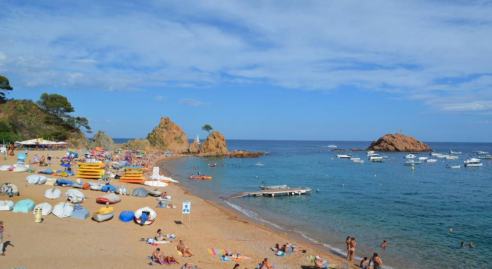 the famous Village of Tossa de Mar,Costa Brava,Spain