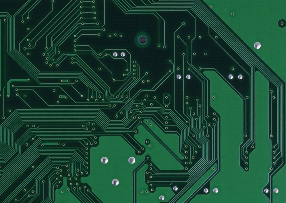 Green PCB texture