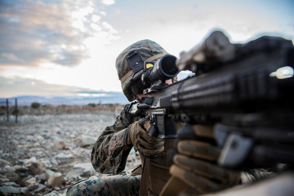 U.S. Marines arms exercise