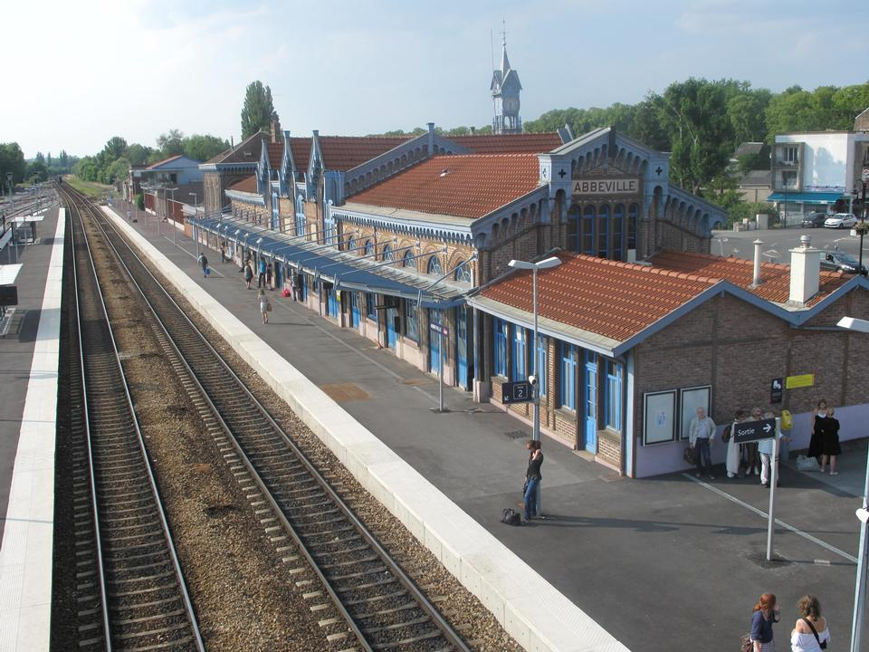 Train station of Abbeville, Somme, France