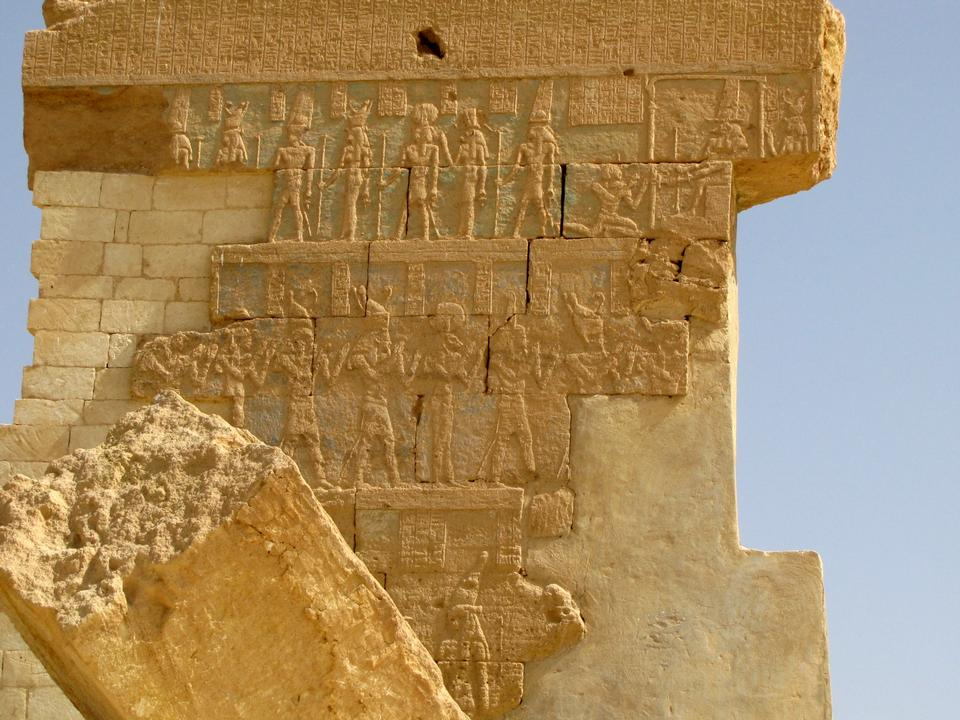 Frieze in the Precinct of Amun Re, the Karnak temple, Luxor