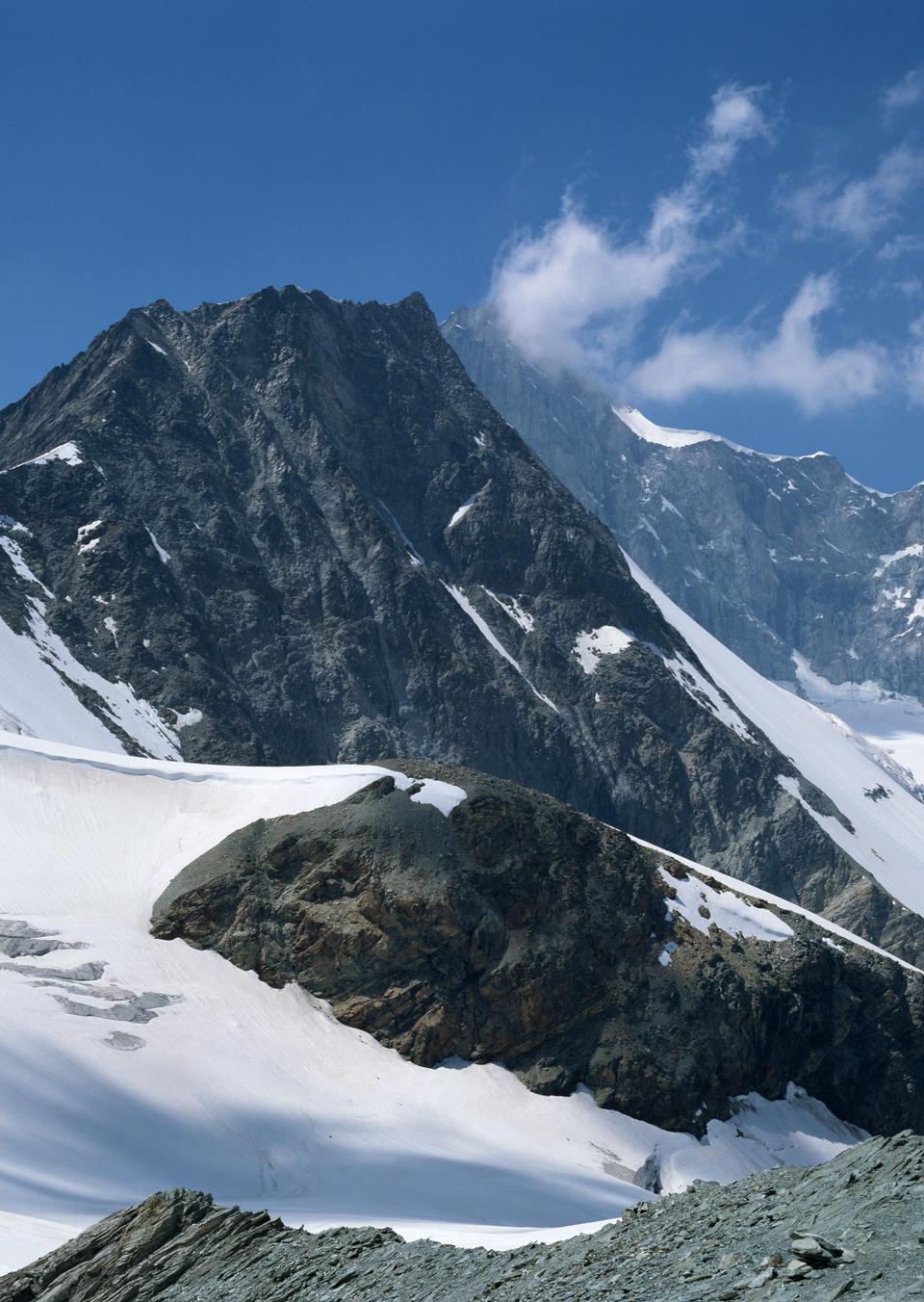 高山阿尔卑斯山地景观