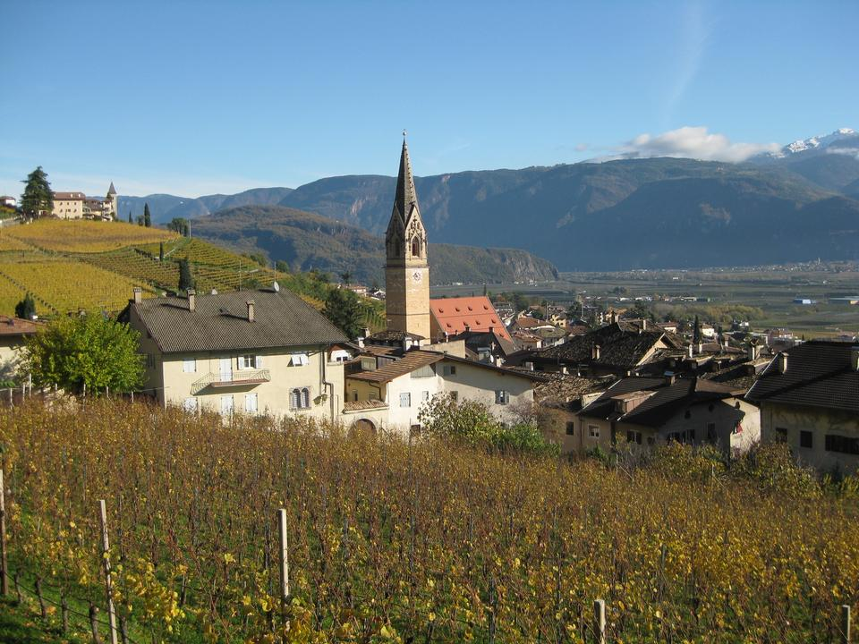 famous Wine Village of Tramin at south tyrolean