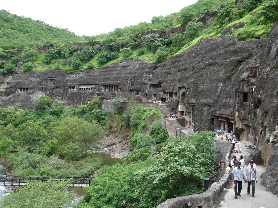 Ajanta Caves near Aurangabad, India.