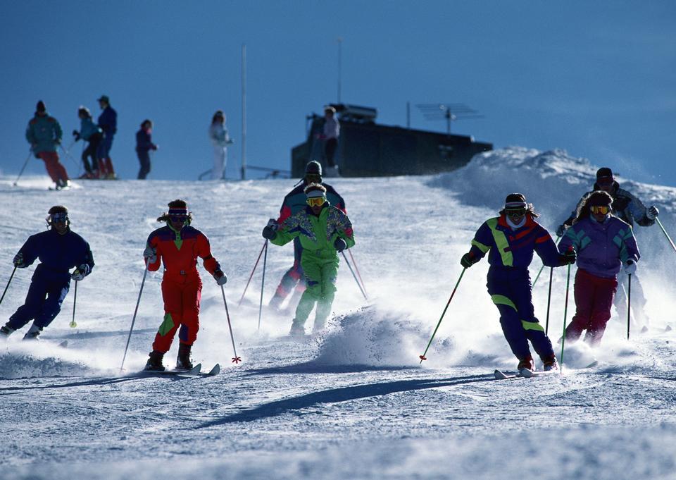 Skiing, winter, snow, skiers