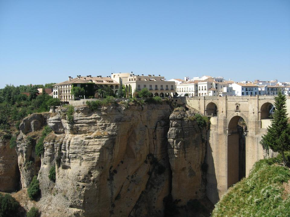 Bridge of Ronda, one of the most famous white villages of Malaga
