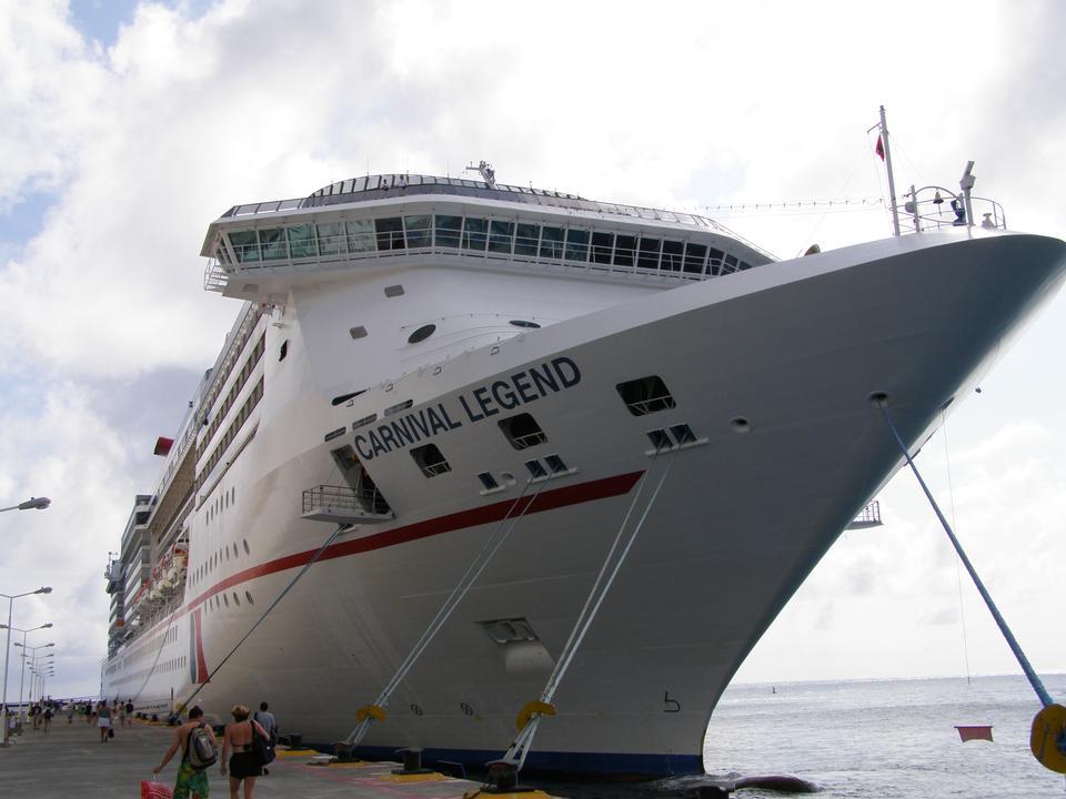 Cruise ship Carnival Valor docked in Castries