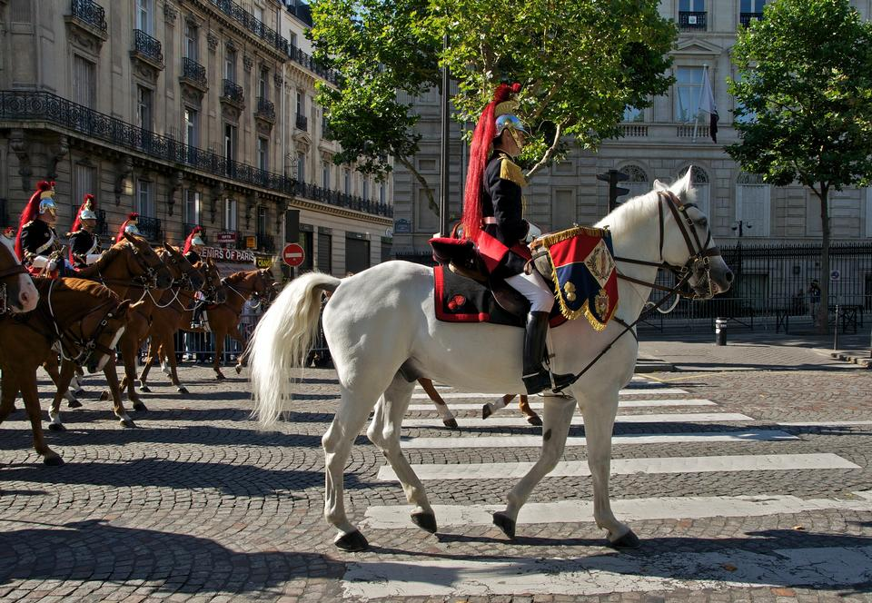 The French Republican Guard in Paris