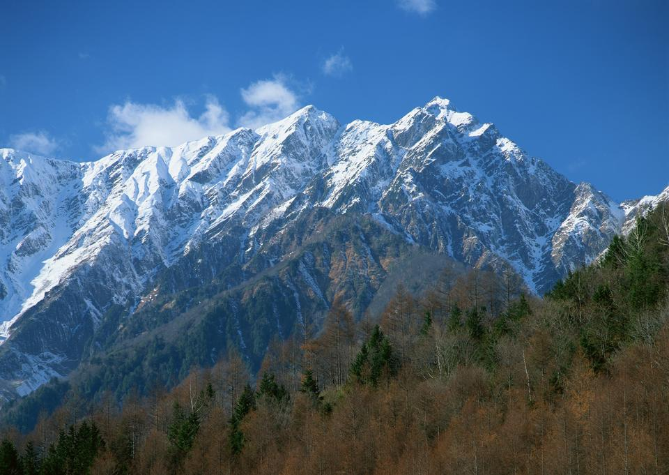 Mountain top covered with snow