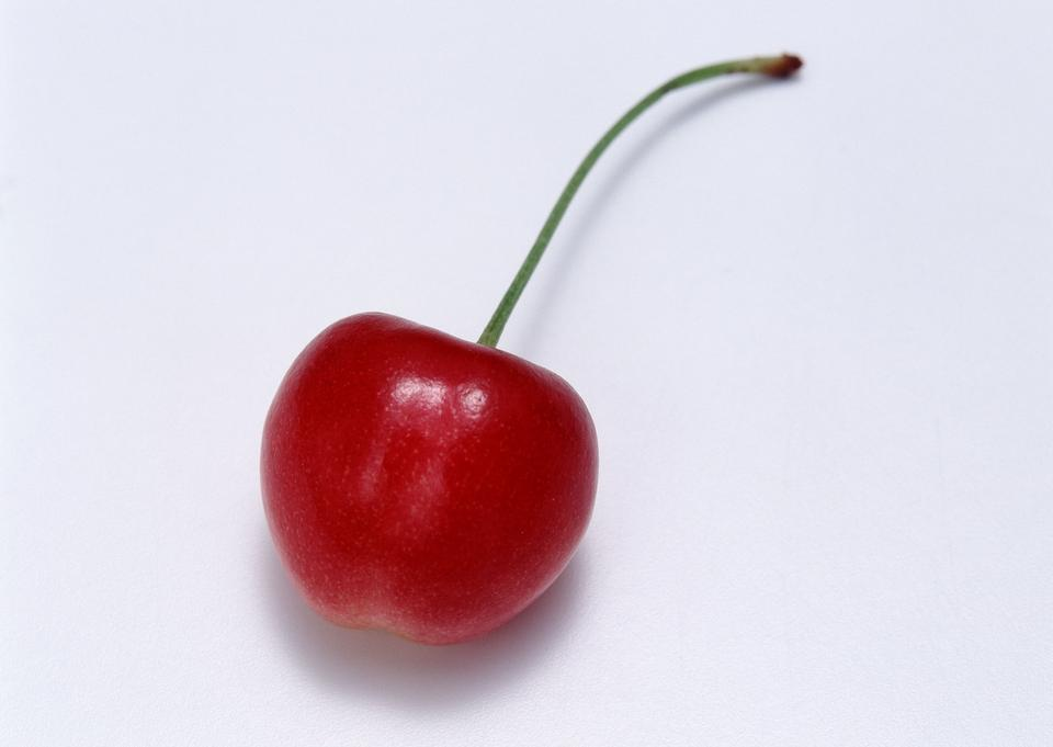 Beauty cherry. On a white background
