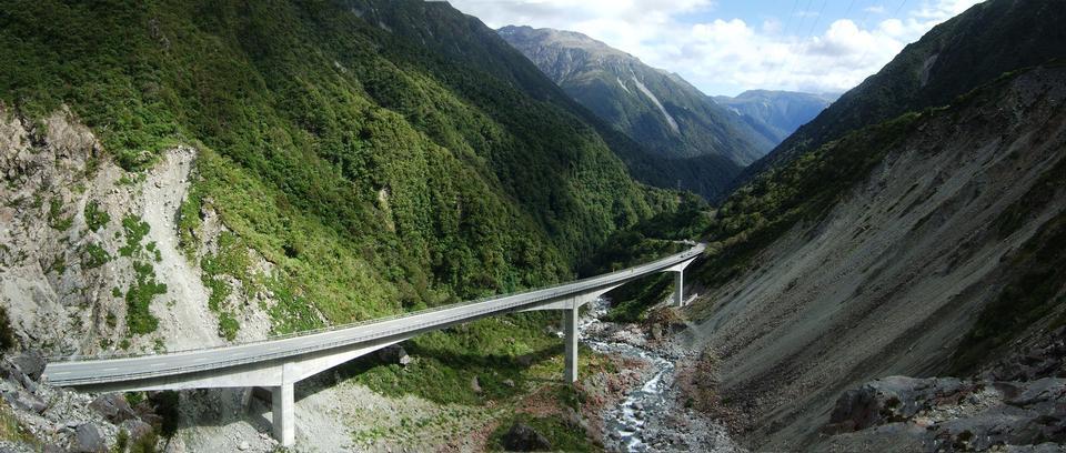 View of the impressive Arthurs Pass Bridge, Arthur's Pass