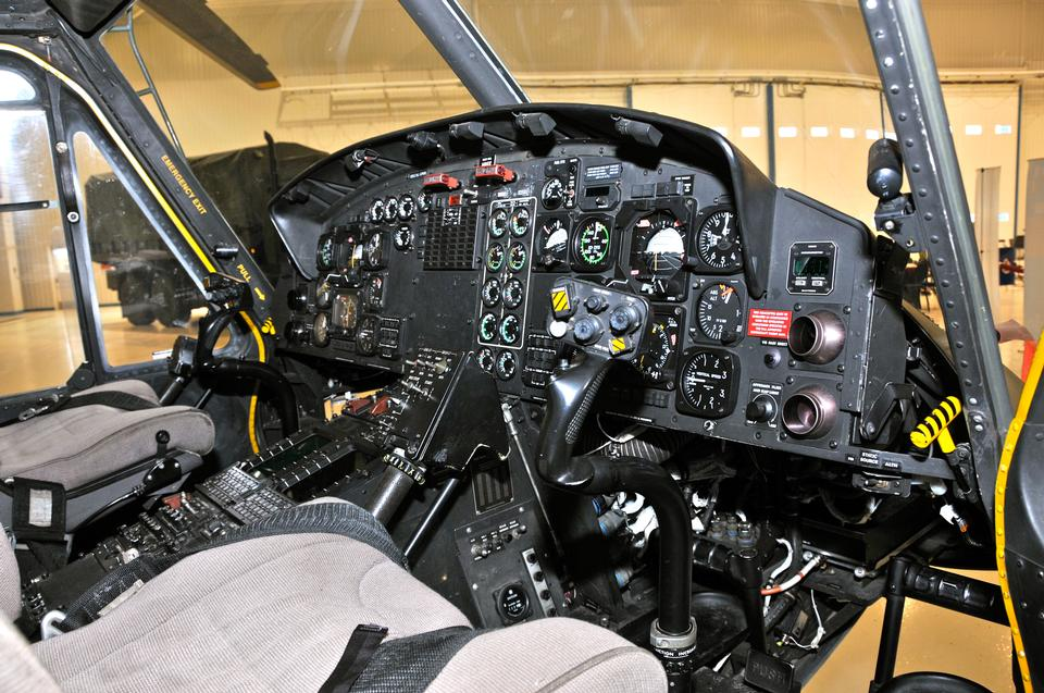CH-146  helicopter cockpit