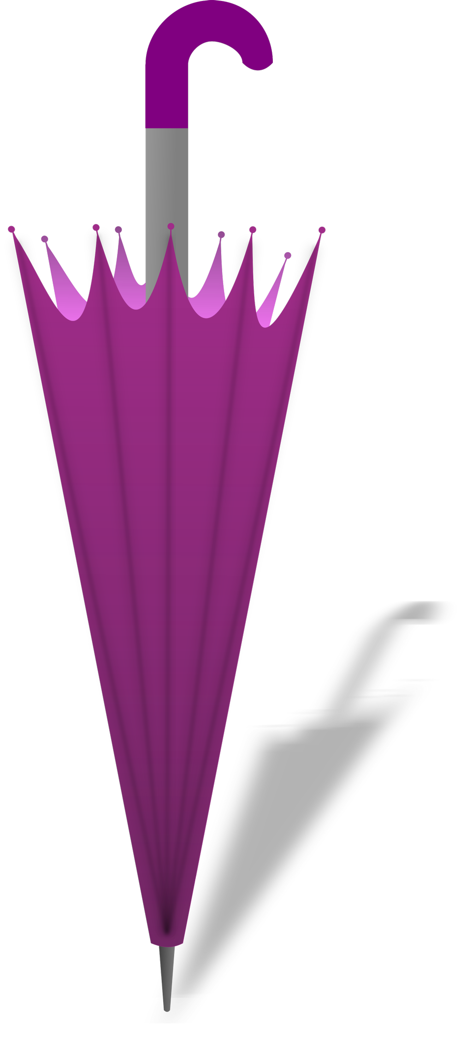 brown umbrella isolated