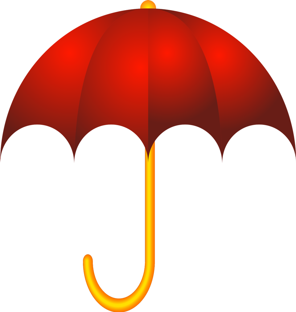 red umbrella isolated