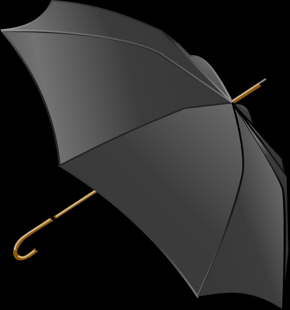 black umbrella isolated