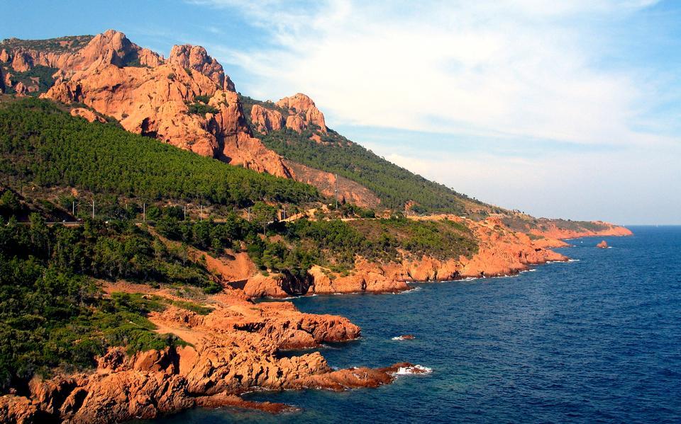 蔚藍海岸地中海沿岸,法國