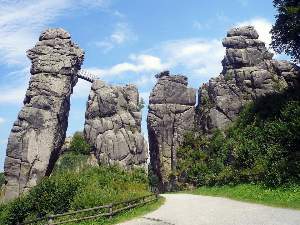 该Externsteine,神秘的自然纪念碑