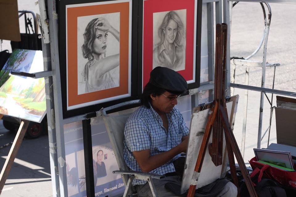 サンティアゴデチリのストリートアーティスト