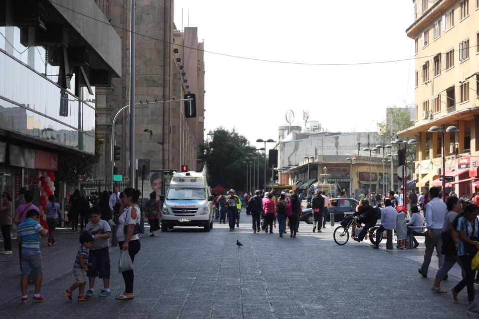 Plaza de Armas广场智利圣地亚哥街头