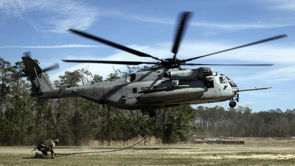 CH-53Eヘリコプターの土地