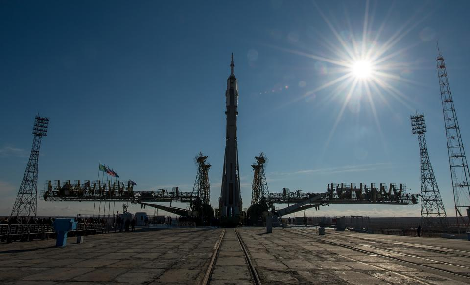 Soyuz Spacecraft Rolled Out For Launch