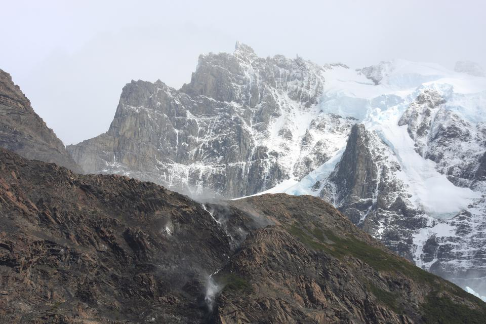 Snowy clouds over  Cerro Torre in Los Glaciares National Park