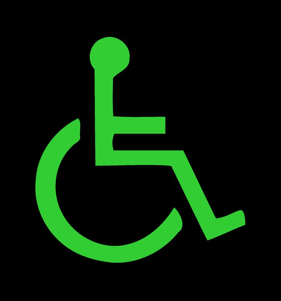그린 휠체어 아이콘