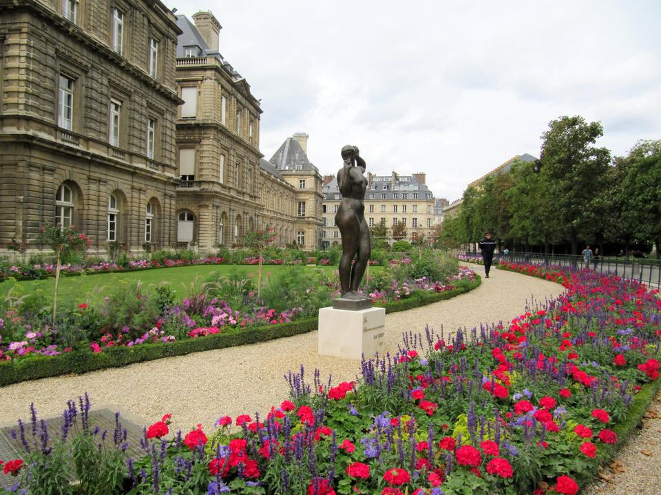 El jardín de Luxemburgo, París