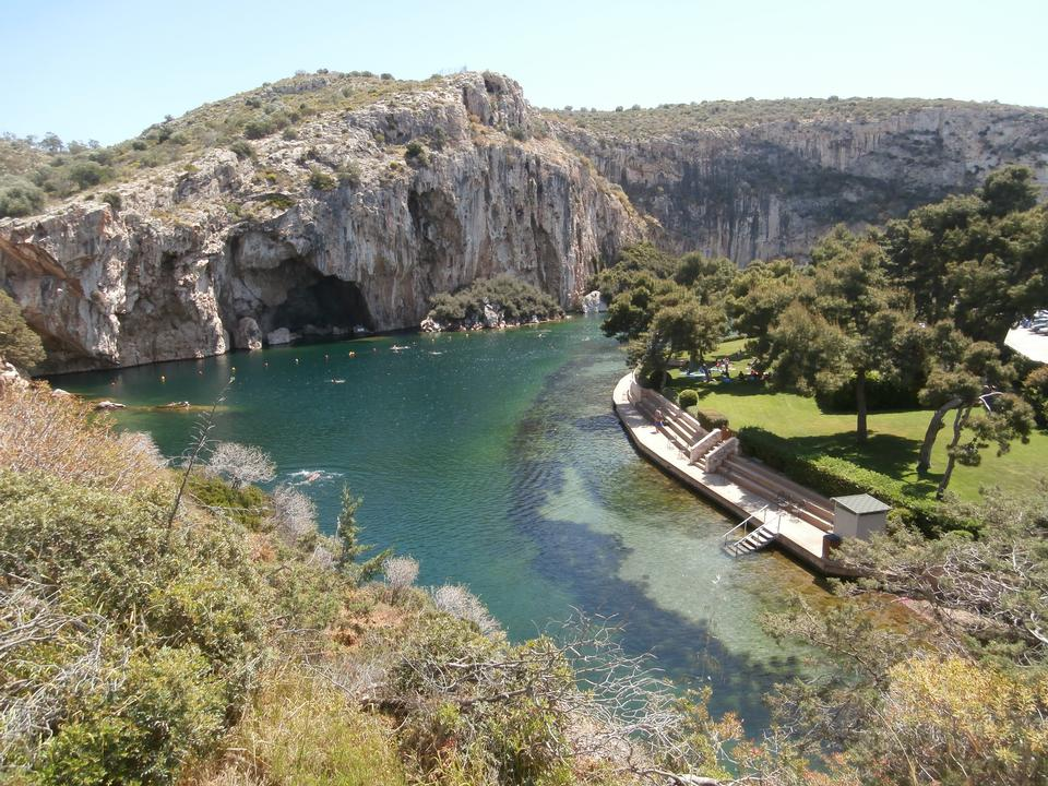Vouliagmeni, Thermal Radonic Mineral Water Lake Athen, Greece