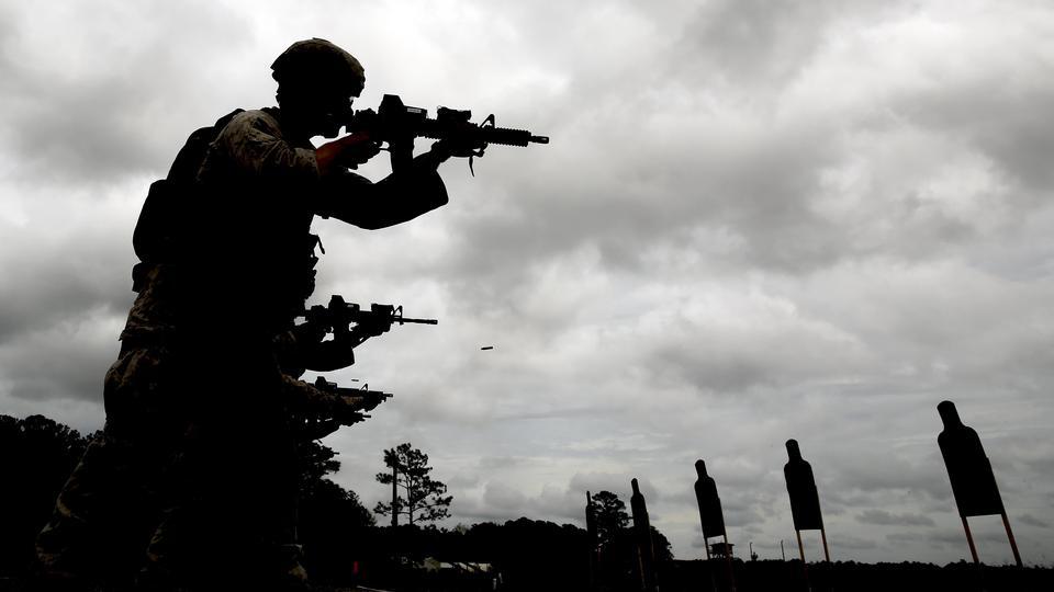 海兵遠征軍火災M4A1アサルトライフル