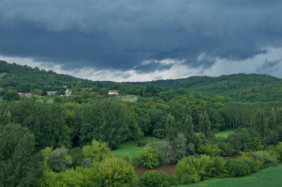 Vezere River, in Dordogne, France