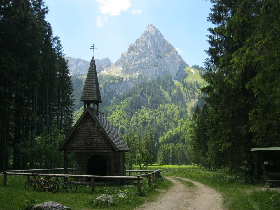 Wankerfleck教堂在阿默尔山