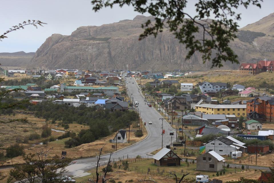 Эль Чальтен, маленькая горная деревня в Санта-Крус Аргентина