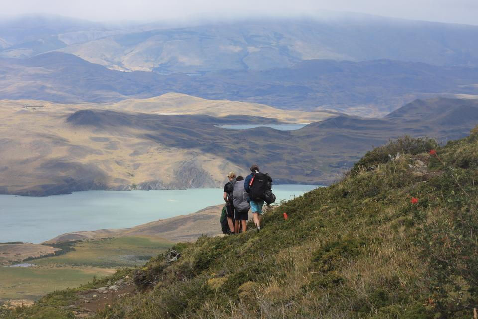 Hikers in Patagonia