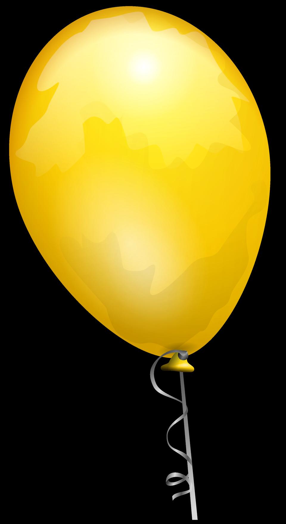 在色带黄色气球