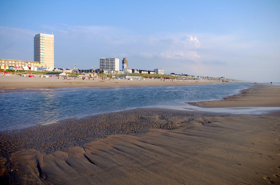 北海沙滩赞德沃特荷兰北部