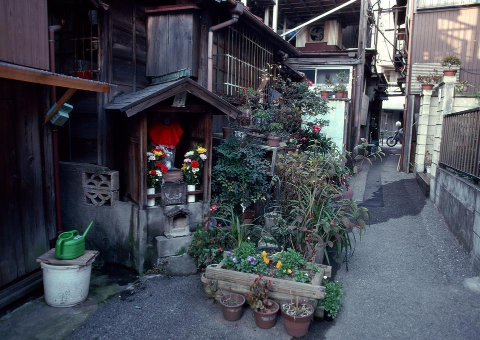 东京的旧的传统街道