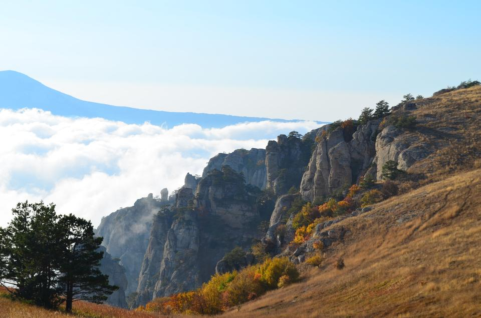Picturesque landscape from Demerdzhi mountain, Crimea, Ukraine