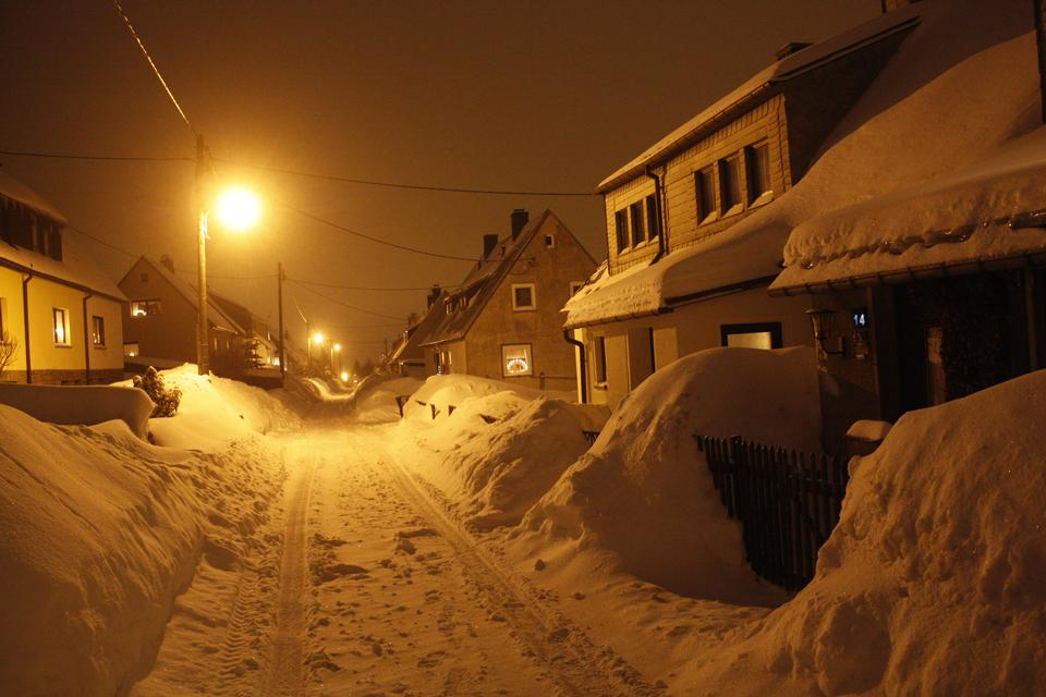冬季埃尔茨,德国萨克森