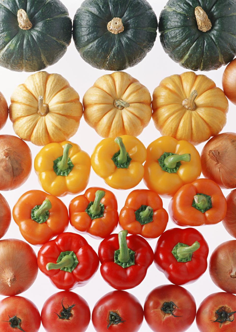 南瓜和蔬菜边境秋季
